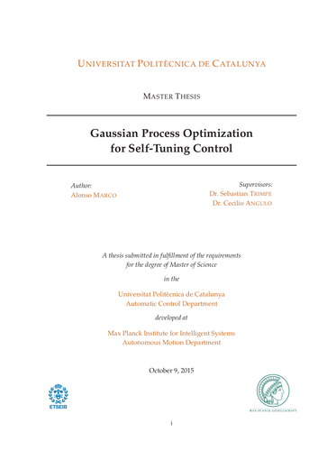 Gaussian Process Optimization for Self-Tuning Control